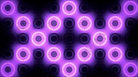 发着紫色辉光的圆圈背景酒吧VJ视频素材
