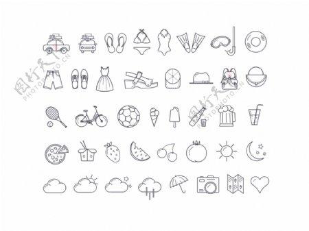 夏天icons设计