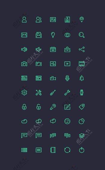 邮件网页图标Icons