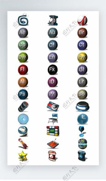 网站软件adobe图标彩色写实icon图标png
