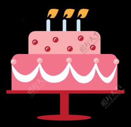 手绘生日蛋糕素材图片
