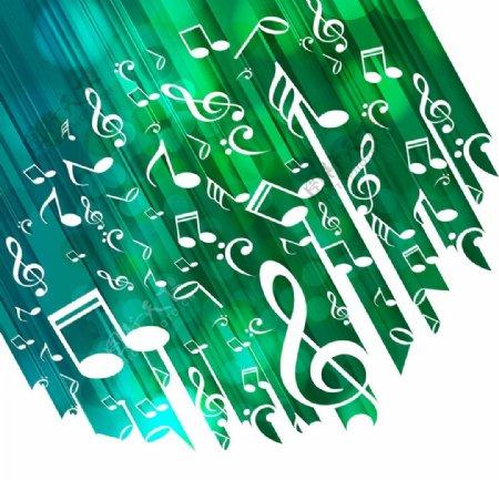 绿色音乐背景