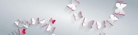 创意剪纸纸质蝴蝶矢量素材