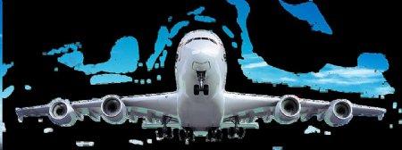大飞机正面图免抠png透明图层素材
