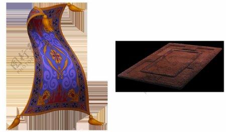 卧室地毯图片免抠png透明图层素材