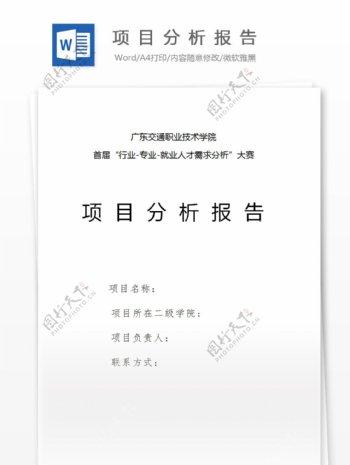 项目分析报告书模板