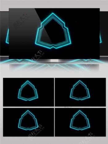 青色VJ线条科技高清视频素材