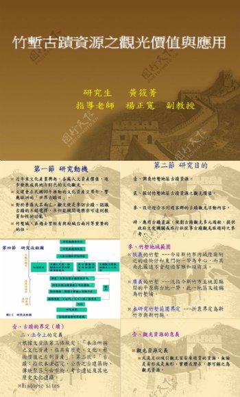 竹堑古迹资源之观光价值与应用研究分析报告
