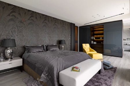 创意现代设计卧室床效果图