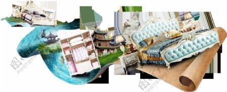 手绘家居装饰元素