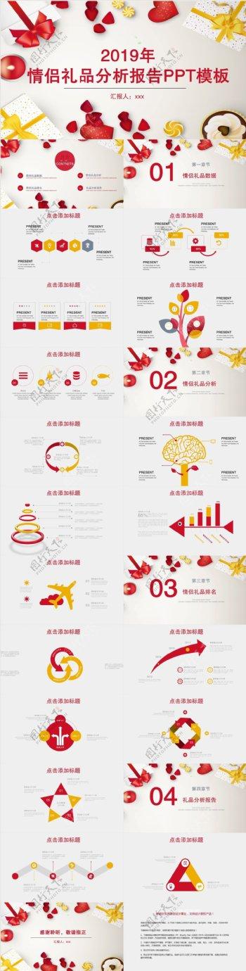 425创意情侣礼品分析报告PPT模板