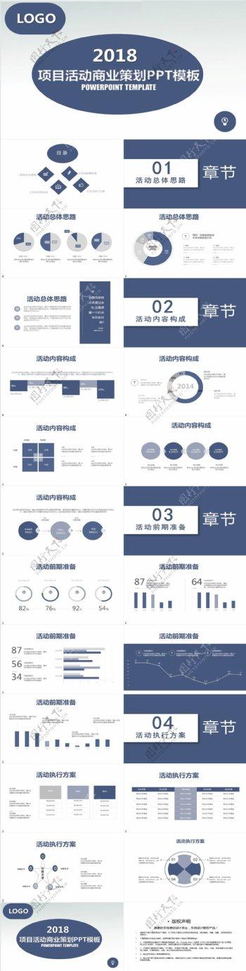 项目活动商业策划PPT模板