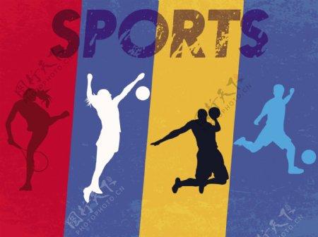体育运动ai矢量素材下载