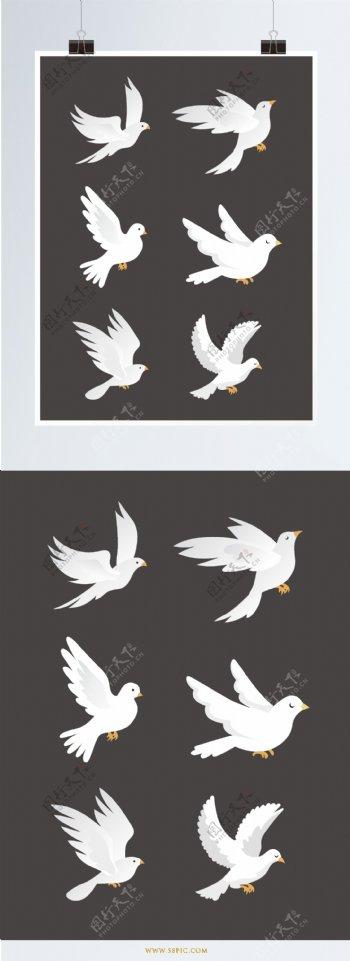 鸽子设计元素