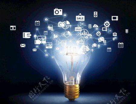 发光的灯泡科技信息发散