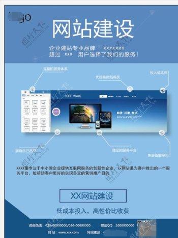 网站科技企业蓝色宣传单彩页单页