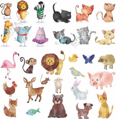 彩绘各种动物集合