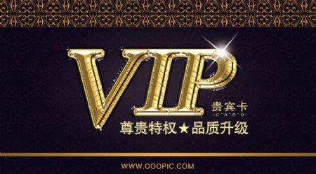 精美尊贵色VIP卡片模板设计