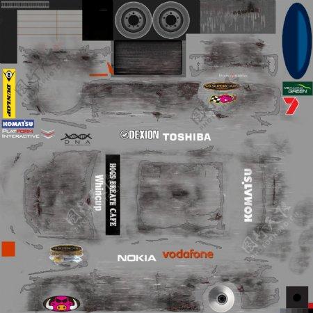 3d赛车渲染模型