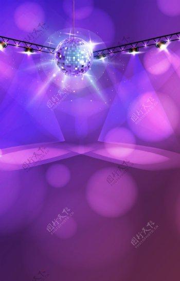 紫色梦幻卡拉ok里的舞台背景素材