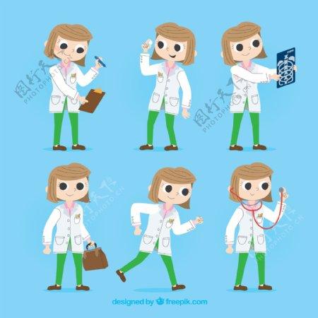 6款创意短发女医生