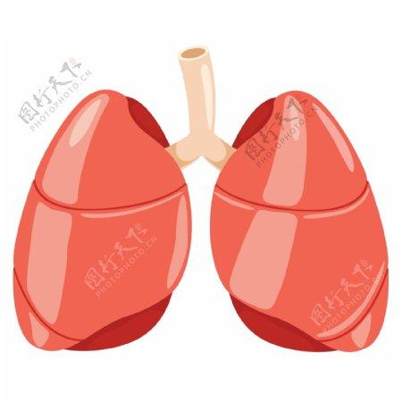防治结核病日器官肺卡通拟人卡通元素