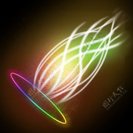 光芒光波光束七彩彩虹