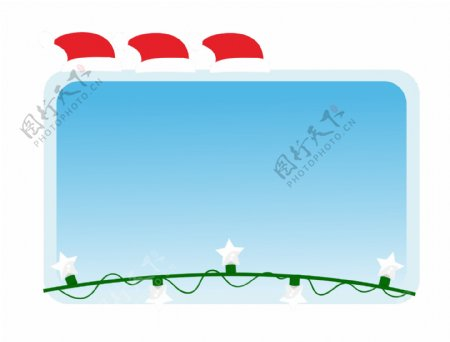 圣诞边框冬季甜美