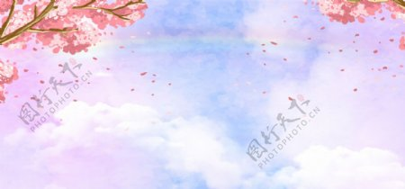 38妇女节梦幻浪漫文艺蓝色banner