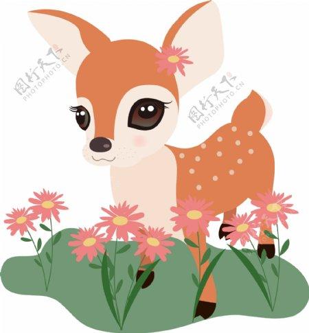 手绘清新超可爱小鹿