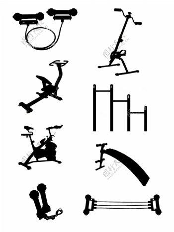 各式健身运动器材剪影