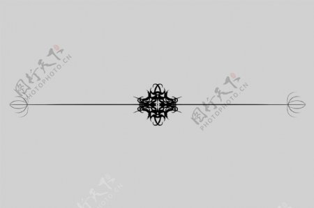立体分割线装饰插画