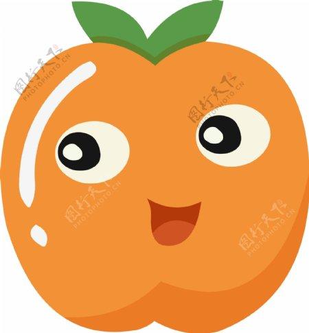 卡通手绘可爱水果笑脸
