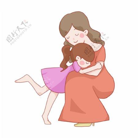 感恩节温馨母女免抠PNG素材