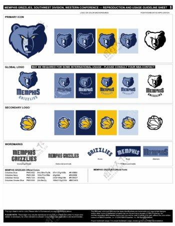 NBA孟菲斯灰熊logo