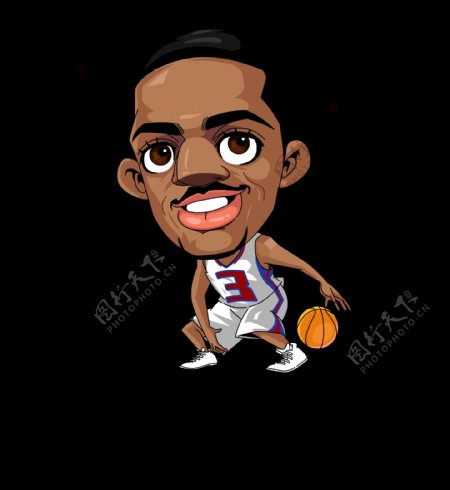 卡通人物NBA球星