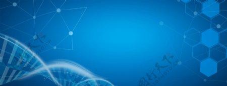 科技分子蓝色医疗安全宣传banner