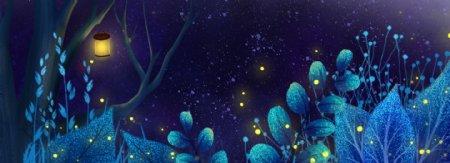 梦幻森林banner背景图