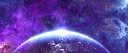 星球星云banner背景图