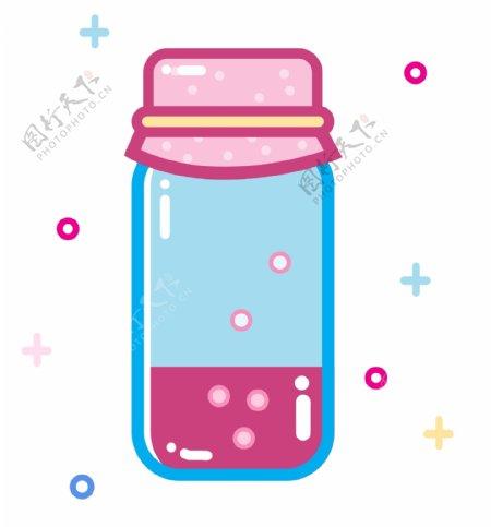 蓝色喝酒杯具