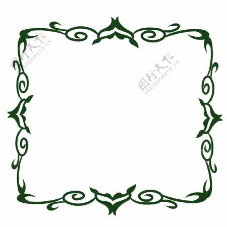 绿色花背景纹理边框