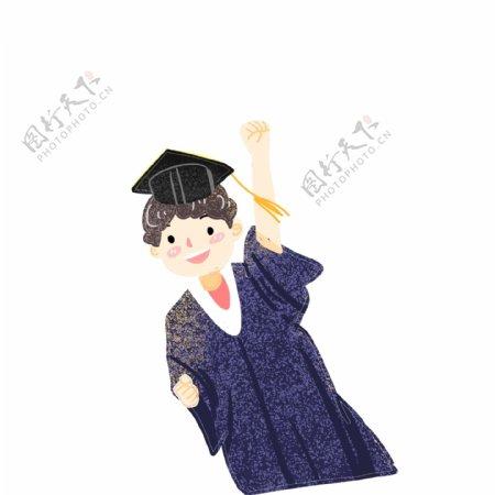 带着学士帽的男孩免扣图