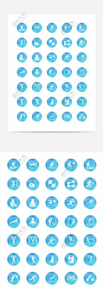 运动主题icon设计