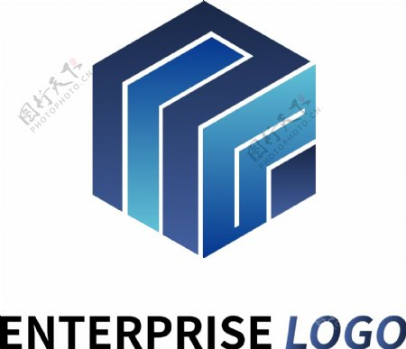 集团企业蓝色logo