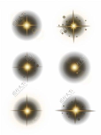 光效粒子素材AI格式高光辉光源文件