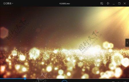 梦幻婚礼金色灯光闪耀唯美动素材