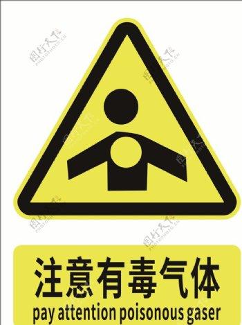注意有毒气体