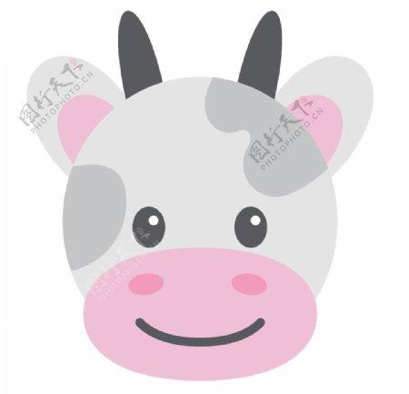 呆萌可爱小动物插画