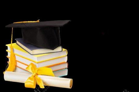 毕业季硕士帽学士帽书本卷宗学区