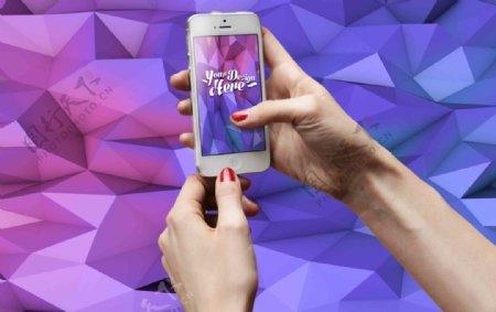 苹果iPhone5白色手机模板